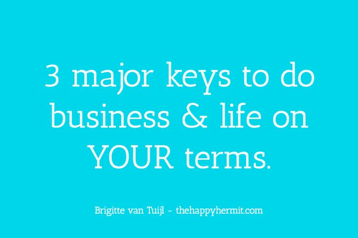These 3 keys are important in creating your own ideal business. Don't forget to get your FREE audio lesson + PDF handout 'Screw the rules and do it YOUR way!'