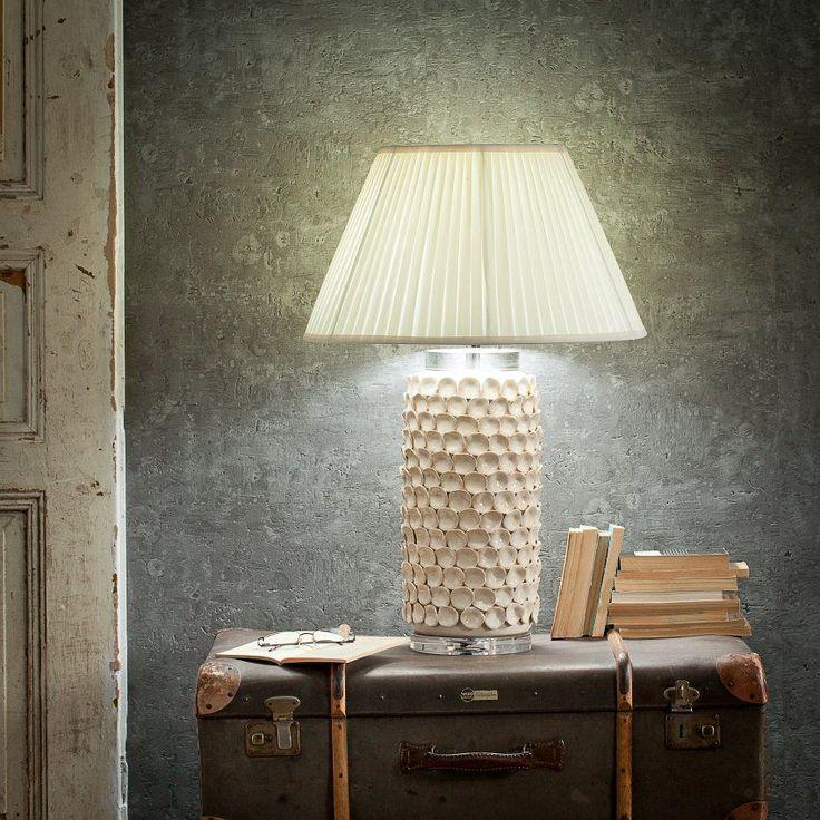 Lampa stołowa Sayaka ceramiczna 73cm 73cm #dekoracje #meble #furniture #lamp #lampy #interior #design #decoration #salon #livingroom #home