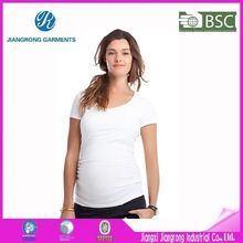Wholesale Blank Maternity T Shirts High Quality Ladies 95 Cotton 5 Spandex T Shirts  best buy follow this link http://shopingayo.space