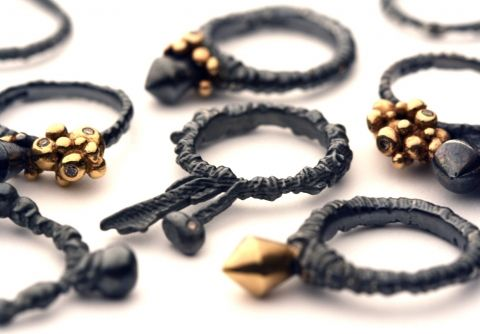 Ros Millar's rings- lost wax casting