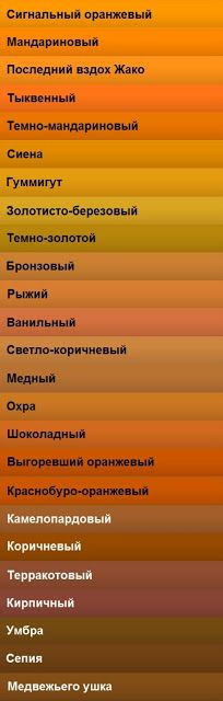 Сommunity Nail Polish Mania - Сообщество Лакомания: Альтернативная радуга или названия оттенков цветов