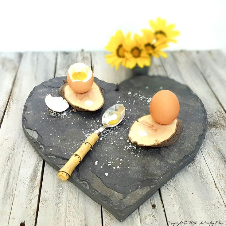How We Made Some Rustic Egg Cups - Easy DIY
