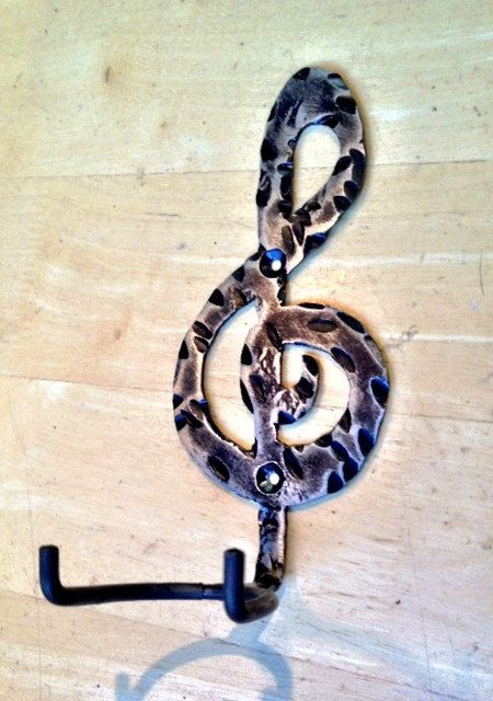 Guitar hook steel guitar wall mount by CustomCitizen on Etsy