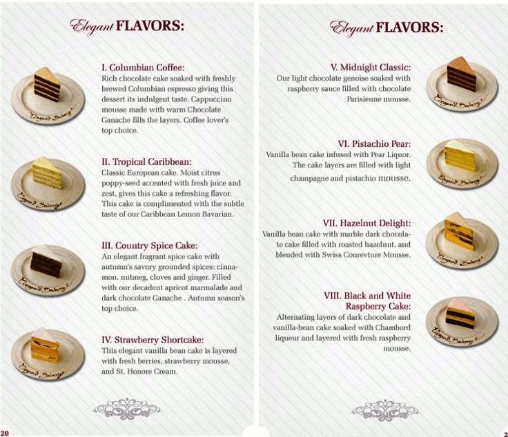 Wedding Cake Flavors And Fillings List Excellent