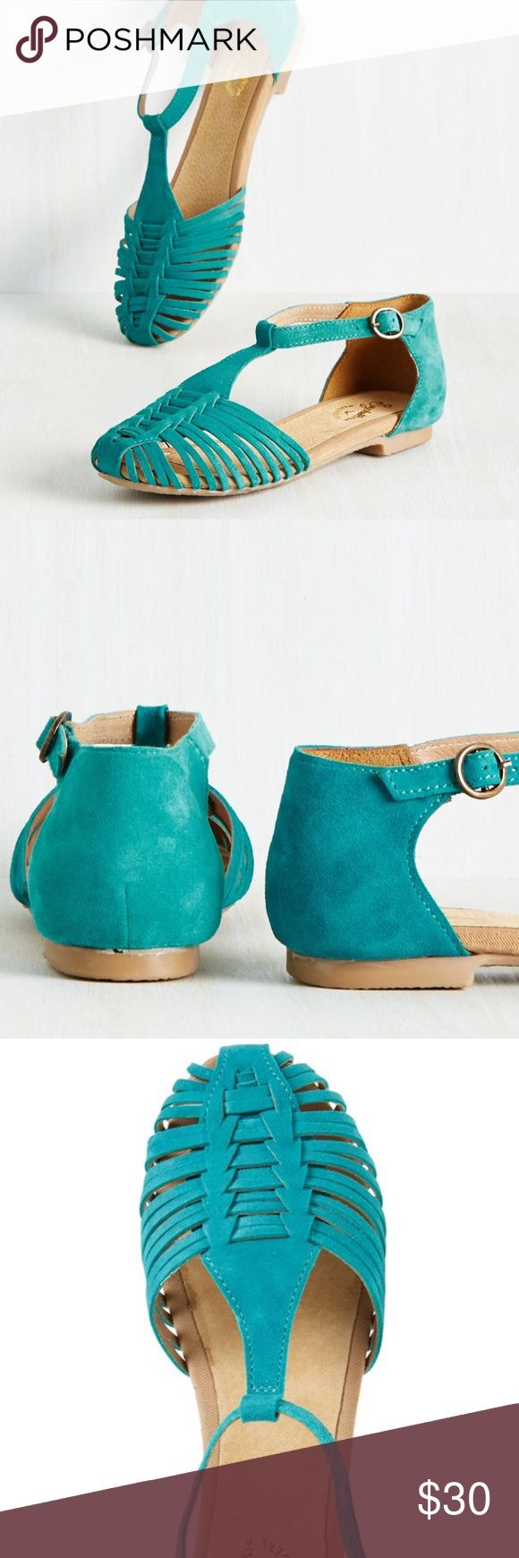 Seychelles Turquoise Flat Sandals New, still in packaging. Comes in original box. Seychelles Shoes Flats & Loafers