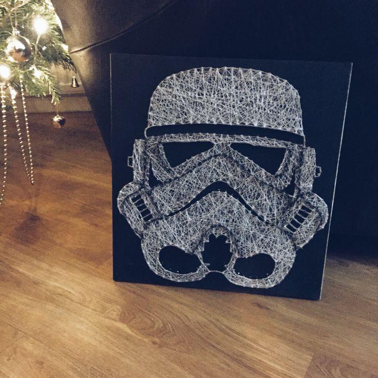 Stormstrooper string art Handmade Star Wars