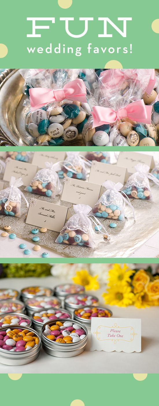Check out these fun (and tasty!) ideas for wedding favors!