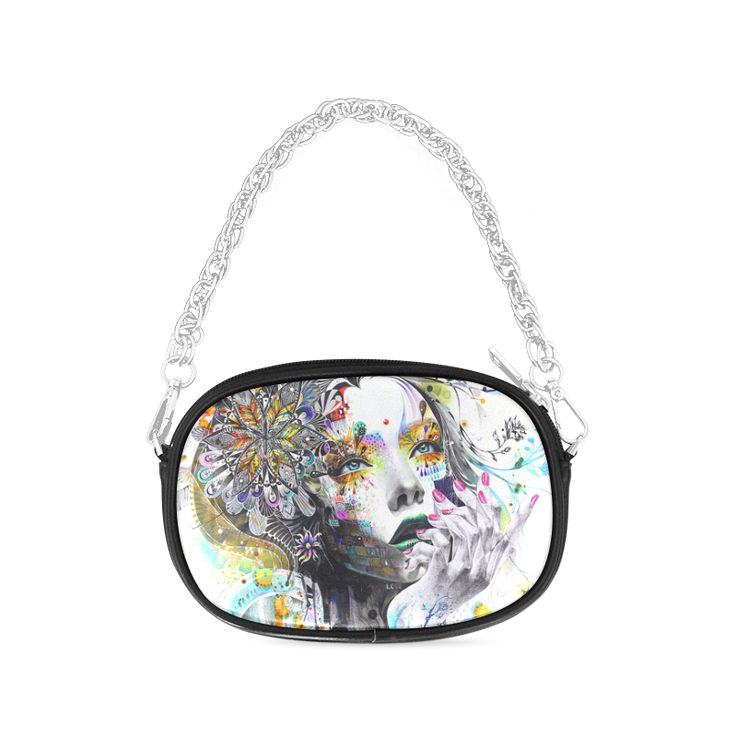 Minjae Lee The Sketch Colorful Beautiful Girl Chain Purse
