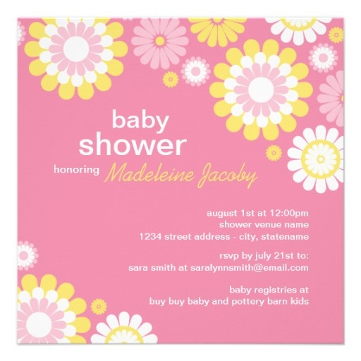 best pink  yellow baby shower images on, Powerpoint