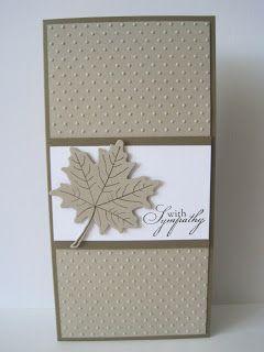 clean & simple sympathy card by Lisa A.