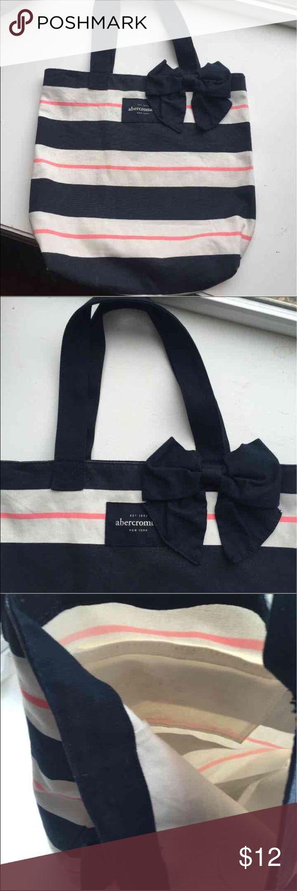 Abercrombie Tote bag Abercrombie white/blue/pink tote bag/book bag Abercrombie & Fitch Bags Totes
