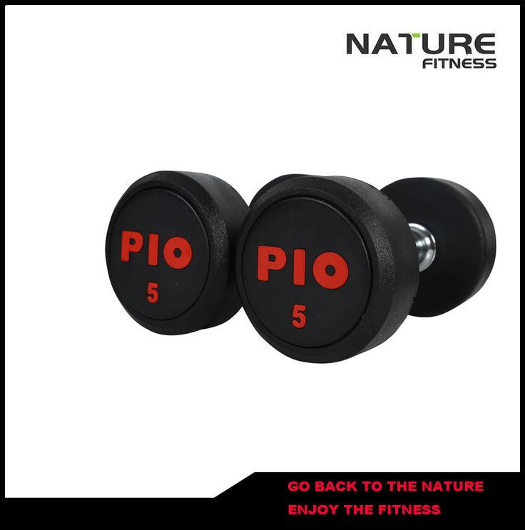 New Colorful PIO Fixed Round Rubber Dumbbell for Sale