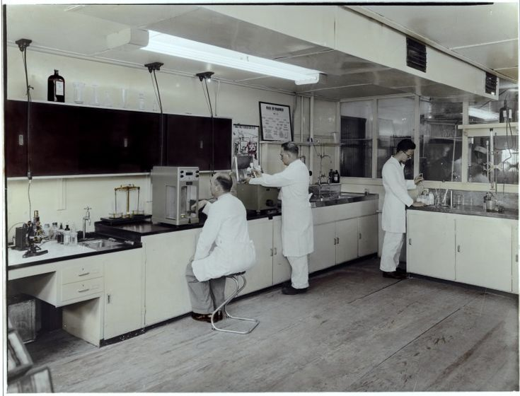 100069PD: Scientists at work, Peters (WA) Ltd, 1950s? http://encore.slwa.wa.gov.au/iii/encore/record/C__Rb2518165__S100069pd__Orightresult__U__X3?lang=eng&suite=def