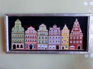 Bloom yuka mitsui / cross stitch / Poland Wroclaw  ポーランド西部の美しい都市100選の街