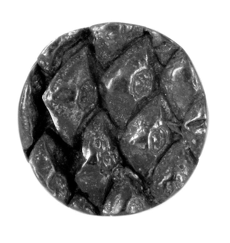 Oxidised pine cone lapel pin