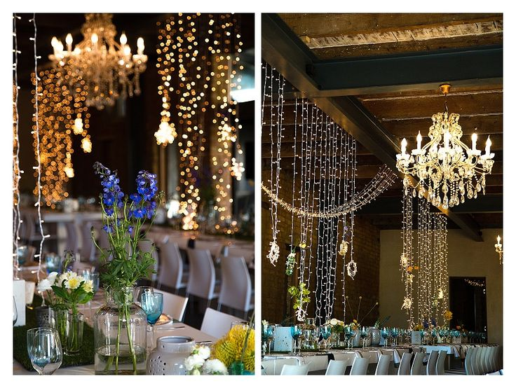 Fairy light draping