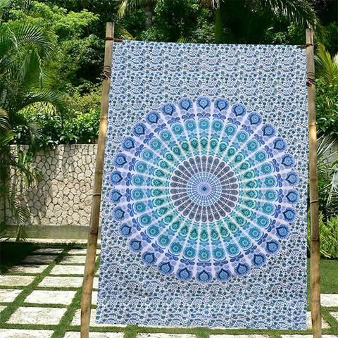 ... Blue Floral Mandala Hippie Dorm U0026 Bedroom Tapestry Wall Hanging For  Bedroom Decor At Bless International At Lowest Price For Give Smart Look Your  Home.