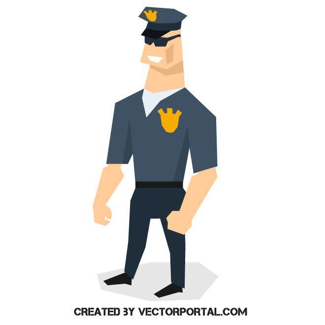 Police office cartoon vector clip art