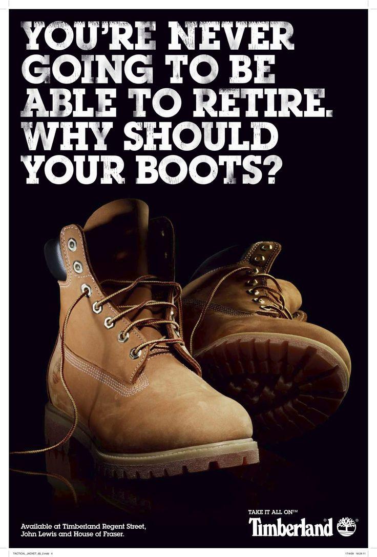 Timberland: Retire #ad #print #copywriting