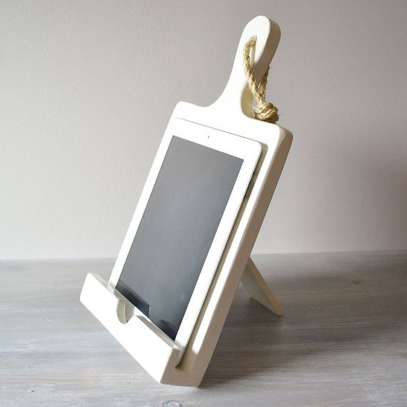 White iPad Stand For The Kitchen Cutting Board Style by Roostic, $40.00
