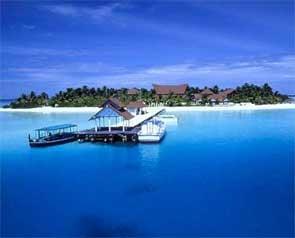Maldives mysterious blue...