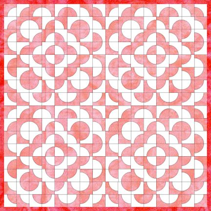 Inklingo- Downloadable Quilt blocks with options galore! Drunkard's Path Quilts >