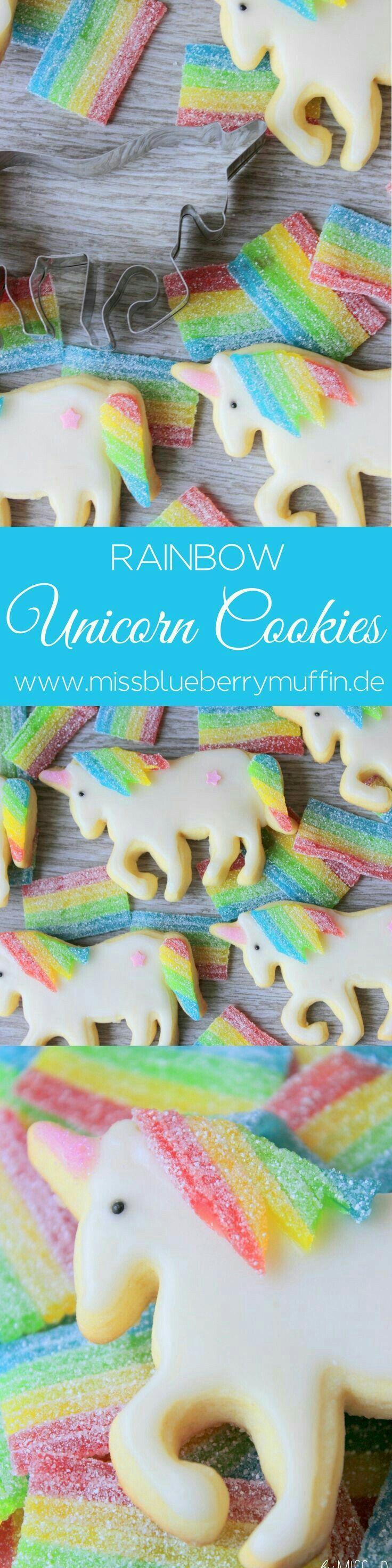 Rainbow unicorn cookies ihr wollt eine Einhorn Party hier hab ich das richtige für euch Einhorn Kekse