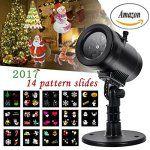 Bonne année LED Projecteur extérieur avec 14 Design exclusif diapositives Projecteur Paysage Lumières Extérieur Étanche Noël Halloween…