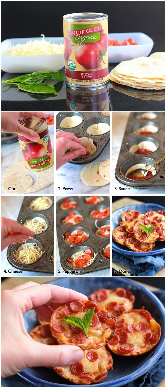 Mini Tortilla-Crust Pizzas