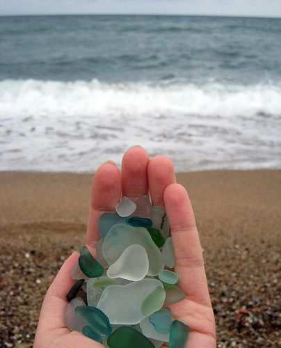 sea glass: I have fond memories of collecting it along Lake Superior in Duluth