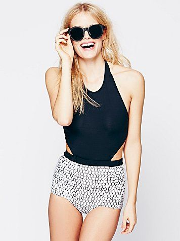 Free People Printed Minerva One Piece  bathing suit perfection.