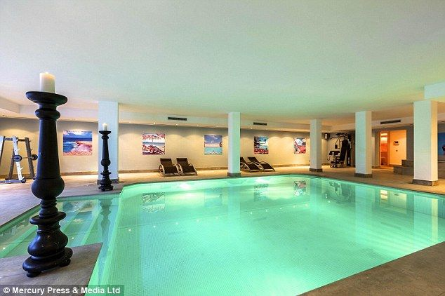 Indoor pool: The heated swimming pool means the new owners can take a dip all year round...