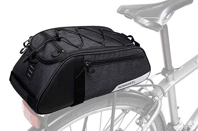 Roswheel Essentials Series 141466 Bike Trunk Bag Bicycle Rear Rack Pack Cycling Accessories Pannier 8l Capacity Review Trunk Bag Pannier Cycling Accessories