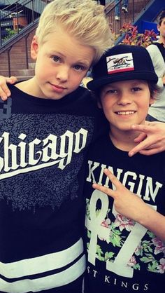 Hayden summerall age 11 Carson lueders age 14