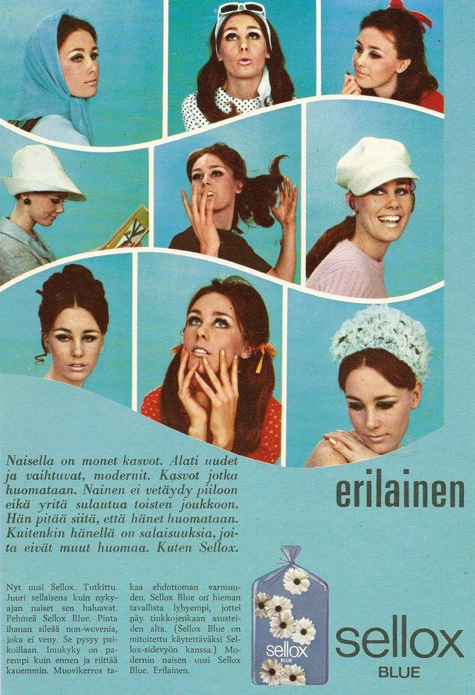 Lehtimainoksia 60-luvulta.