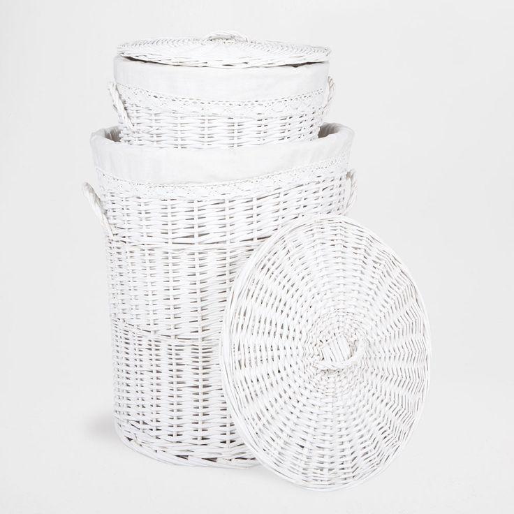 Laundry basket - Zara Home - Wood and Wicker Basket