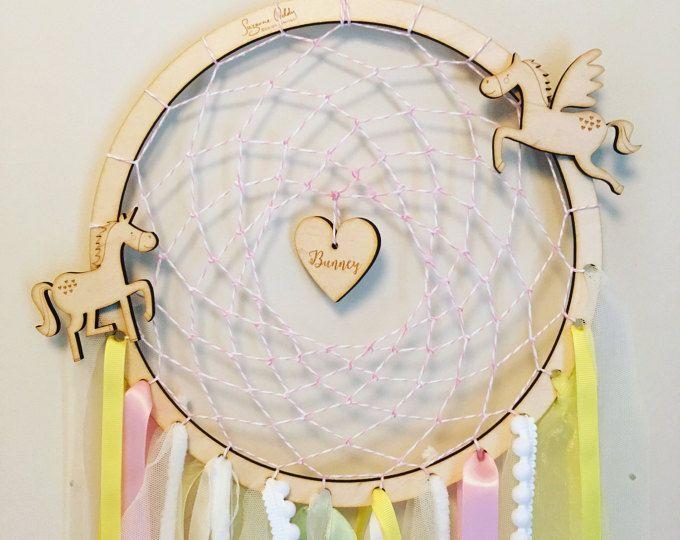 Personalización de atrapasueños, atrapasueños Unicornio, unicornio, regalo del bebé, bebé móvil, regalo de unicornio, bebé Unicornio, regalo niña, unicornio, Pegaso