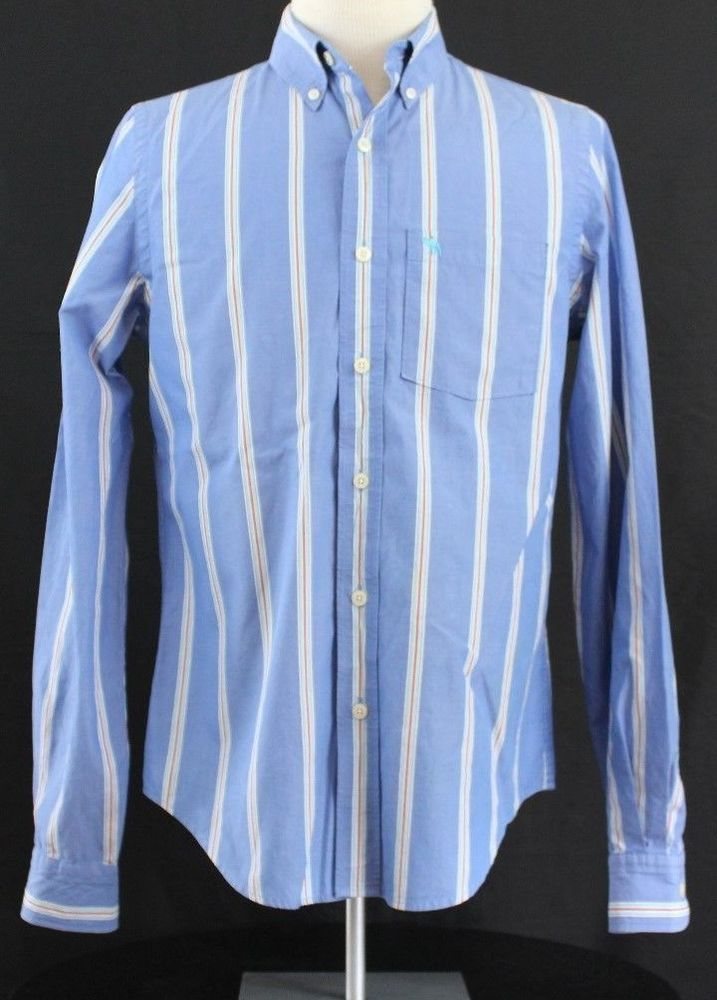 Abercrombie and Fitch Muscle Size Medium Mens Long Sleeve Casual Dress Button  #AbercrombieFitch #ButtonFront