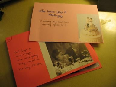 Write pieces of heartfelt advice that countdown to her wedding