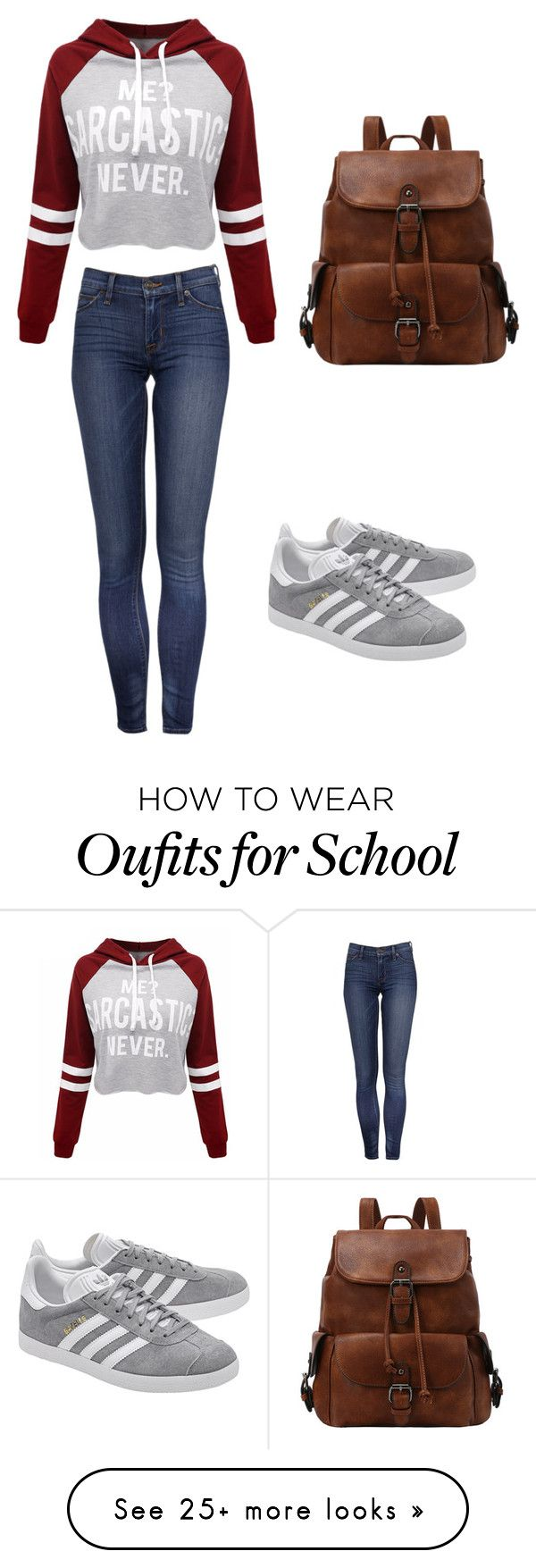 """School #1"" by wxnderiand on Polyvore featuring WithChic and adidas Originals"