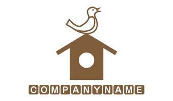 LOGO Design Sale -小鳥,鳥,自然,家,エコ,ECO 0162【ロゴデザイン作成・販売】