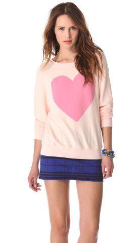 Wildfox Love Note Baggy Beach Sweatshirt   SHOPBOP