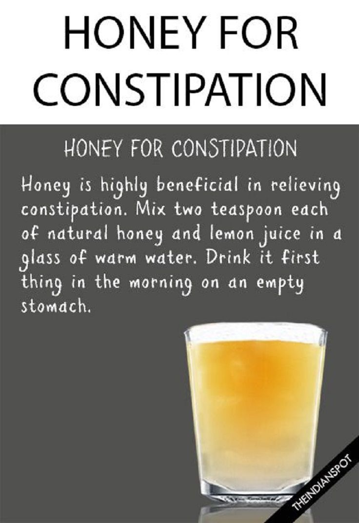 honey-for-constipation - It's no secret that honey is good for our health in many different ways. But, the honey is great for relieving constipation also. So, try to consume 2 teaspoons full of the mixture made of honey and lemon juice every morning. We can assure you that the results will come quickly.