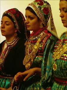 Karpathos - Greece , beautifull women wearing the traditional clothes