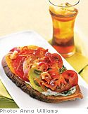 Open-Faced Tomato Sandwiches with Basil Mayonnaise and Bacon - Make ...
