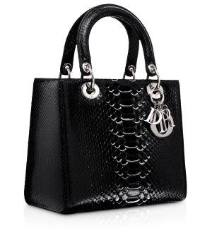 Dior Black Python Lady Dior Bag