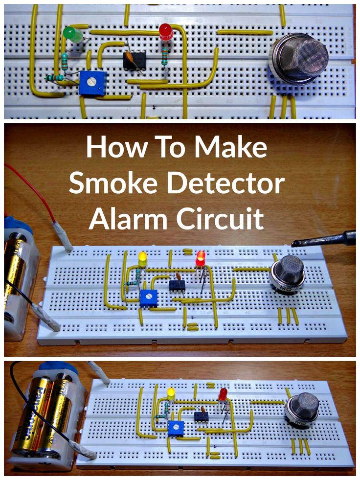 How To Make Smoke Detector Alarm CircuitJames Howard