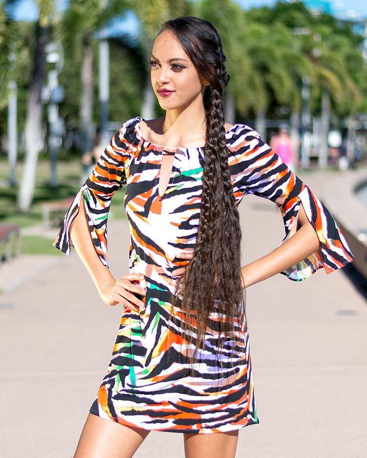 Sunny Eclipse Dress in Dream Tiger