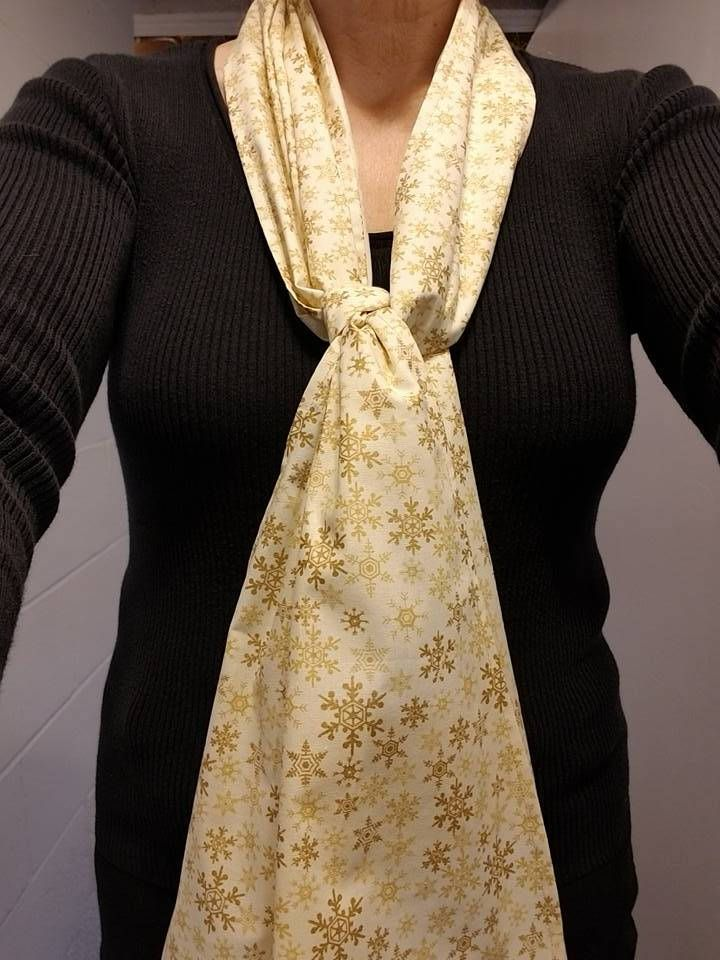 Dining Scarf Adult Bib U2013 Gold Snowflake Holiday Scarf For Eating Out Or  Eating In With