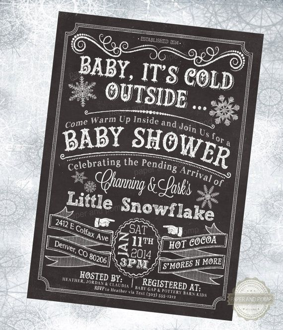 Baby Its Cold Outside Baby Shower Invitation by PaperandPomp, $16.00